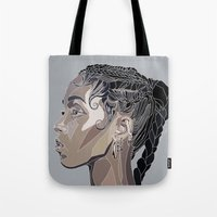 fka twigs Tote Bags featuring FKA by Stina Löf