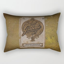 old razor ad Rectangular Pillow