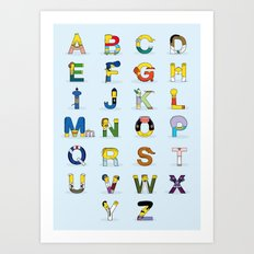 Simphabet Art Print