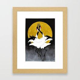 Red-crowned crane Framed Art Print