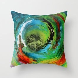 Maelstrom, captivating abstract painting Throw Pillow