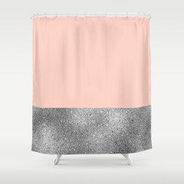 Peach like a diamond Shower Curtain