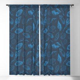 Tropical sea shells Blackout Curtain