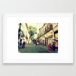 Street - Rio de Janeiro Framed Art Print
