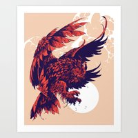 And the moon was so bright Art Print