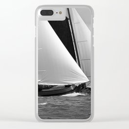 Skutsjes sailing vessels in a regatta Clear iPhone Case