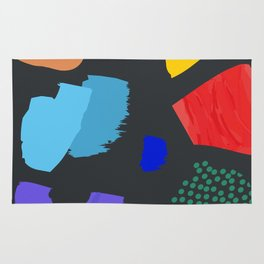 Save The Earth Landscape Series Colourful Planet Elements Contemporary Modern Art Rug
