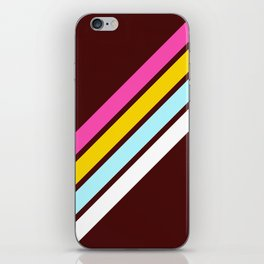 80's Style Retro Stripes iPhone Skin