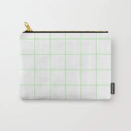 Graph Paper (Light Green & White Pattern) Carry-All Pouch