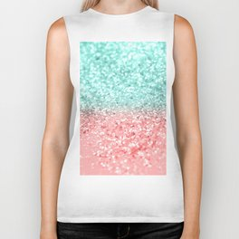 Summer Vibes Glitter #1 #coral #mint #shiny #decor #art #society6 Biker Tank