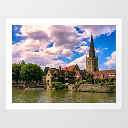Along the Thames. Art Print
