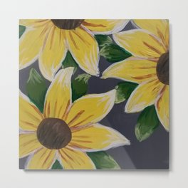 Handmade Sunflower Painting Metal Print