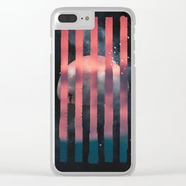 Man on the Moon Clear iPhone Case