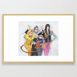 Golden Halloween Framed Art Print