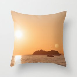 Sailing the Dream Worlds Throw Pillow