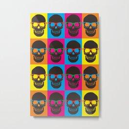 Colorfull Skulls Metal Print