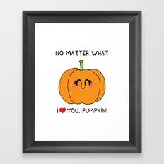 I love you pumpkin Framed Art Print