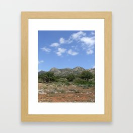 Mediterranean Landscape Framed Art Print