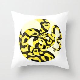 Yellow Snake Throw Pillow