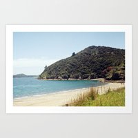 new zealand Art Prints featuring New Zealand by mylijeko