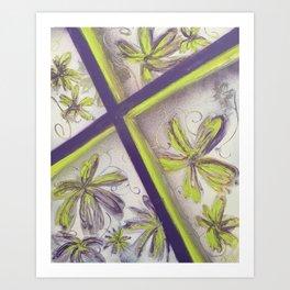 Purple green spray paint Art Print