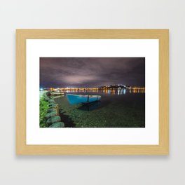 Quiet in the lake Framed Art Print