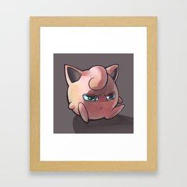The Puff Framed Art Print
