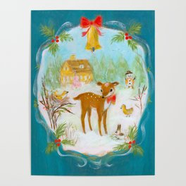 Fawn town Holidays Poster