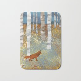 Autumn Fox Bath Mat
