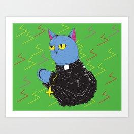 Cat Priest Art Print
