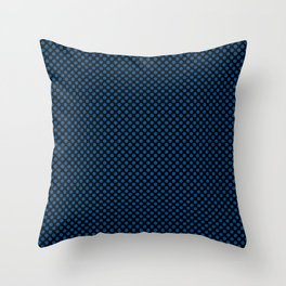 Black and Lapis Blue Polka Dots Throw Pillow