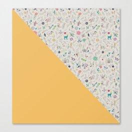 Pez Otomi yellow by Ana Kane Canvas Print