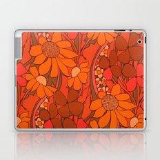 Vintage floral linen fabric  Laptop & iPad Skin