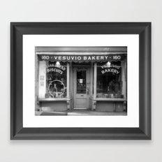 Vesubio Bakery (B/W) Framed Art Print