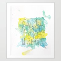 Mistakes Quote Art Print