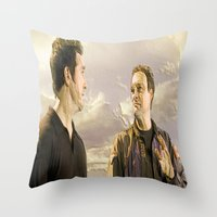 stargate Throw Pillows featuring Goodbye Carson by Samy