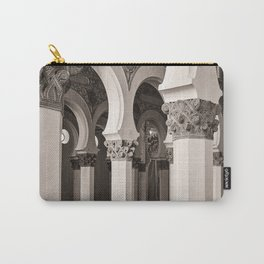 The Historic Arches in the Synagogue of Santa María la Blanca 5, Toledo Spain Carry-All Pouch