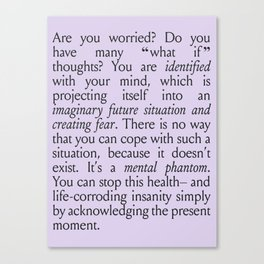 Are You Worried? Canvas Print