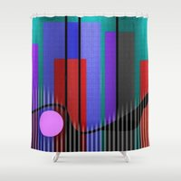 band Shower Curtains featuring Jazz Band by Kristine Rae Hanning
