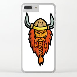 Angry Norseman Head Mascot Clear iPhone Case
