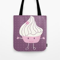 cake Tote Bags featuring CAKE by Alix Création