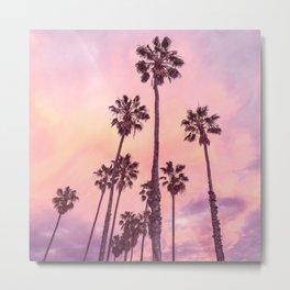 Palms to Pink World Metal Print