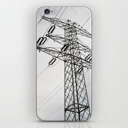 Electric power transmission iPhone Skin