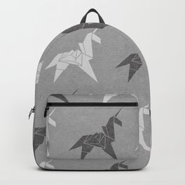 Origami Unicorn Grey Backpack