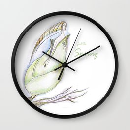 Elf-spring-love-green Wall Clock