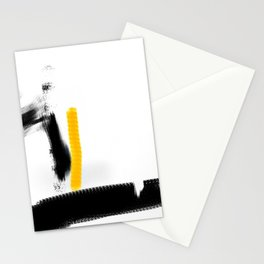 abstract art yellow Stationery Cards