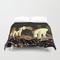 baby elephant Duvet Covers featuring Baby elephant by nicky2342
