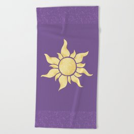 It started with a flower Beach Towel