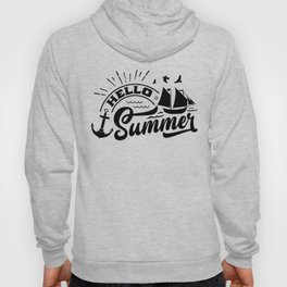 Hello Summer Beach Therapy Boat And Anchor Hoody