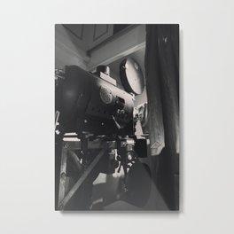 Vintage Movie Camera Metal Print